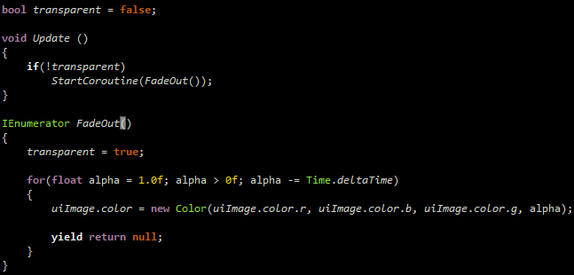 We could accomplish the same thing with a Coroutine: