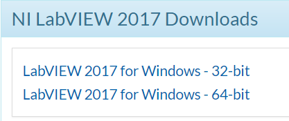 LabVIEW Download Links